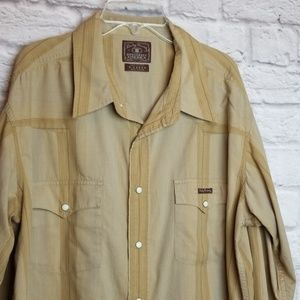 Lucky Brand Shirt Button Down Sz XL Mens